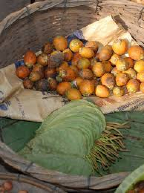 Betel leaf and Betel nut preparation.