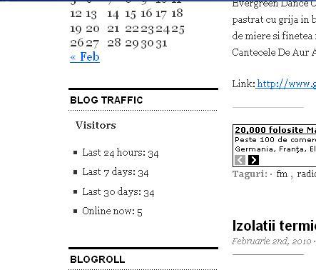 Widget displays in your blog