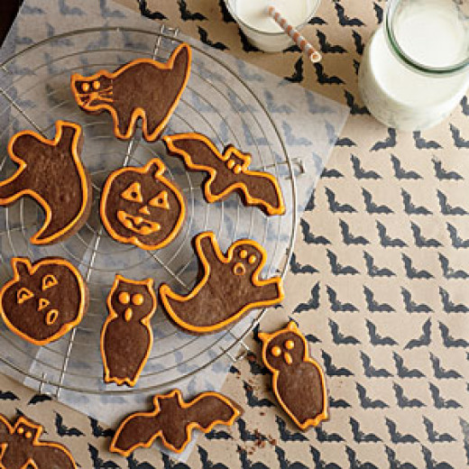 Chocolate Halloween Cut Outs
