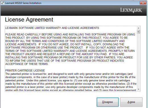 This is a standard license agreement
