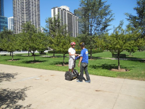 I took this picture of the guide showing my son how to use the segway