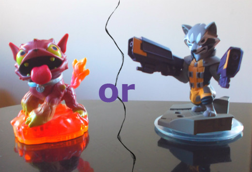 If you can only get one, which one should it be? Hot Dog is a Skylanders favorite, while Rocket Racoon is a Disney Infinity favorite.