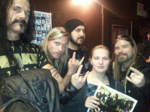 This is me and most of the band. I was so star struck I couldn't do anything.
