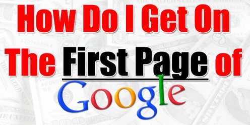 Words; how to get on first page of google