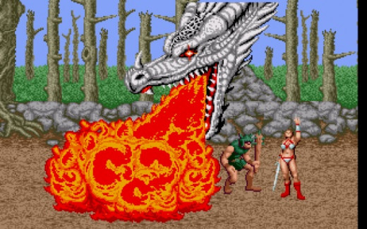 When her magic is full the warrior woman brings down a dragon that kills all normal thugs and severely injures the bosses.