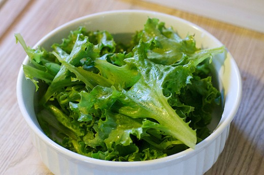 Fresh Salad Greens (like these) will make this salad irresistible.