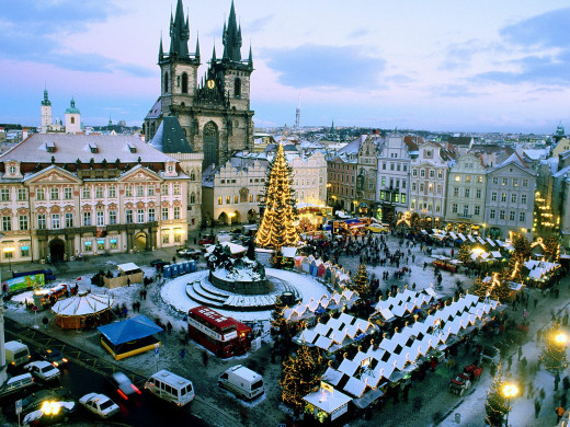 Prague's fairy-tale like atmosphere is most prominent during Winter.