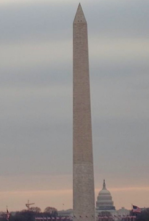 From the steps of the Lincoln Memorial you can see across the entire Mall.
