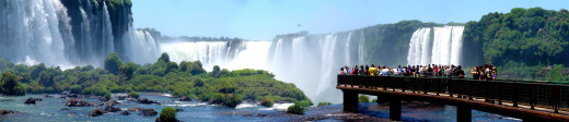 "The Spectacular Iguazu Falls. Argentina. Lady Roosevelt famously responded when she first saw  Iguazu, ""Poor niagara."""