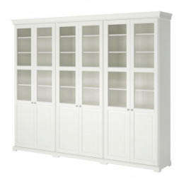 IKEA LIATORP Storage combination with doors. Have even more wall space? Add more shelving units!