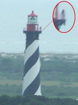 Girl Ghost At Top Of St Augustine Lighthouse. Many people have seen the little girl ghost up on the walk around at the top of the lighthouse. She is most often seen early in the morning just after sunrise when the lighthouse is locked up.