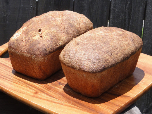 Two Loaves of Whole Wheat Bread