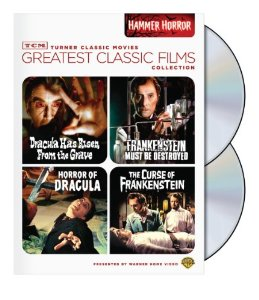 "4 film collection from the ""TCM Greatest Classic Film Collection"" series featuring the first Frankenstein and Dracula films as well as a sequel to each from their long running franchises. Priced at around $10."