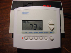 A new digital thermostat will help you control your energy consumption.
