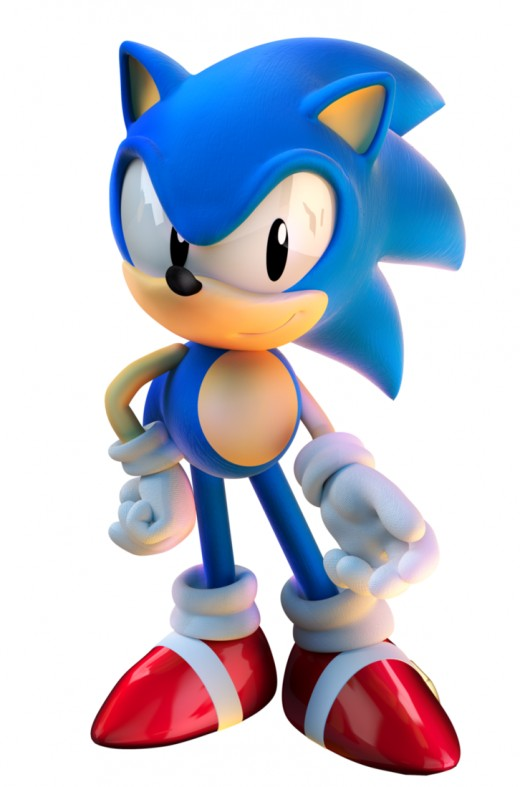 Sonic The Hedgehog from the very beginning.