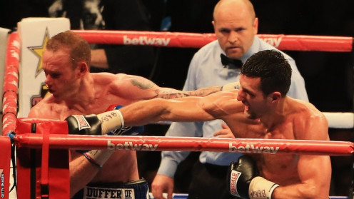 Carl Froch knocked out George Groves in 8 hotly contested rounds in 2014.