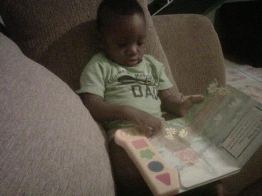 My reading toddler