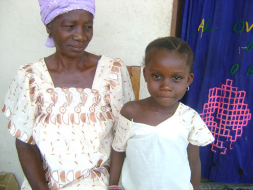 With Grandmother in the village