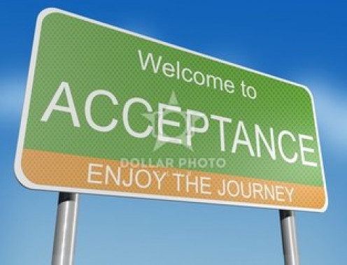 Acceptance is a greater part of you