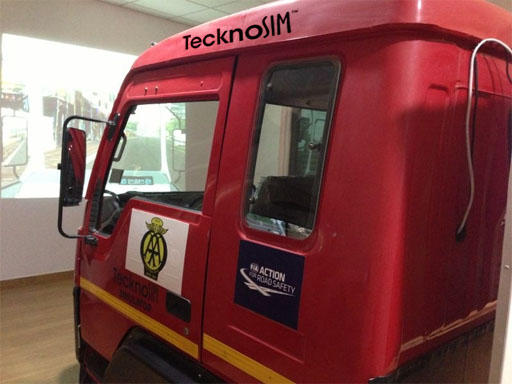 A Bus Simulator Used To Train Bus Drivers
