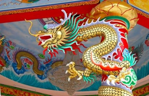 Dragons are a common feature on Chinese artwork