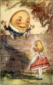 An illustration from lewis Carroll's 'Through the Looking Glass'