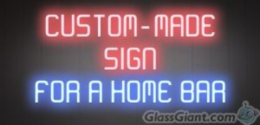 Custom design a sign just for your home bar.
