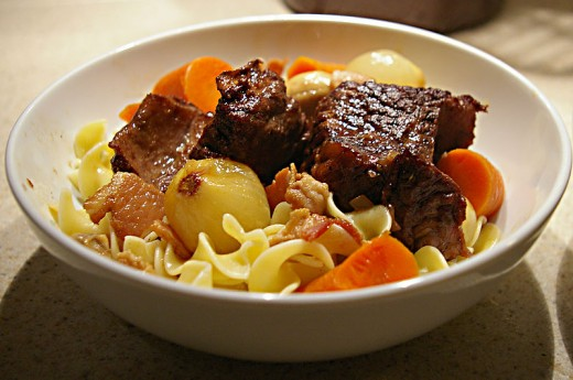 Braised pork spare ribs