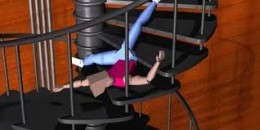 Falling from staircase