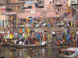 Pilgrims in river Ganga