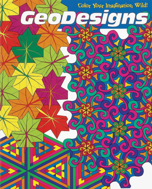 Geodesigns Coloring Book offers mindbending pictures and designs to color