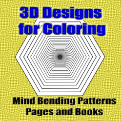 3D Designs Coloring Books