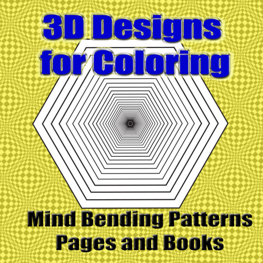 Mind bender coloring pages, 3D designs to color