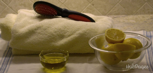 For less frizz and more shine: Lemon and olive oil.