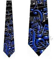 Muscial Notes tie Mens Music Neckties by Ralph Marlin