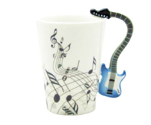 Electric Guitar Music Notes Holds Tea Coffee Milk Ceramic Mug 10.58oz Best Gift