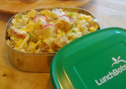 Super quick potato salad for two, ready in 20 minutes or less