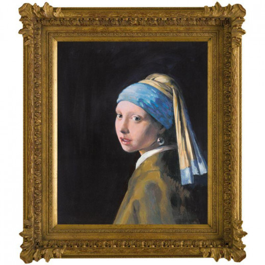 Girl With a Pearl Earring in the style of Johan Vermeer by John Myatt