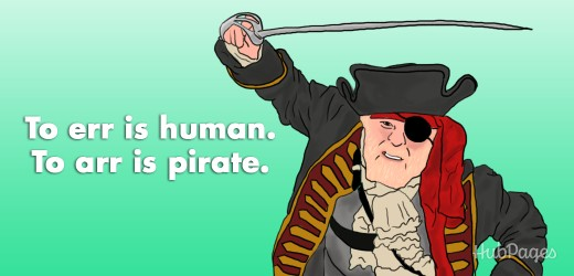 "A perfect update for Pirate Day (or any other day): ""To err is human. To arr is pirate."""