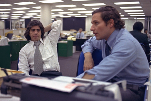 The real Bob Woodward (right) and Carl Bernstein.
