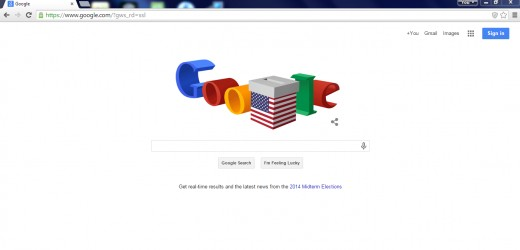 Google is always changing the Logo on the page, this was for Election Day 2014