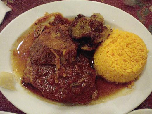 Traditional Cuban Boliche Dish