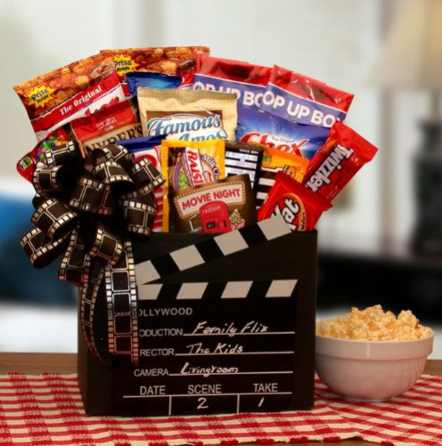 Movie Lovers Gift Basket Movie Time Theme Gift Basket