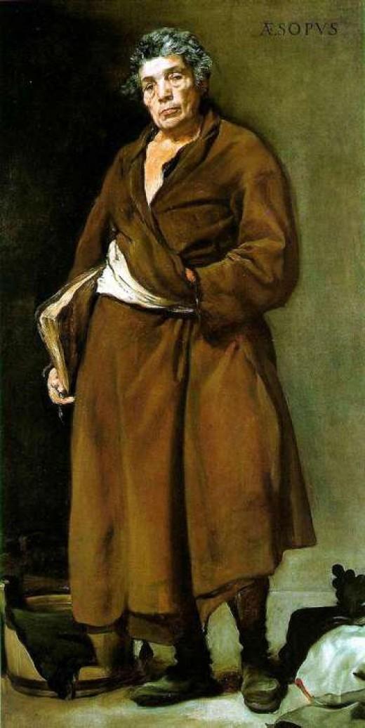 Diego Velasquez's imaginary portrait of Esop