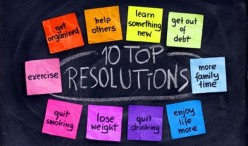 In order to follow through with resolutions, it's important to think of realistic and obtainable goals.