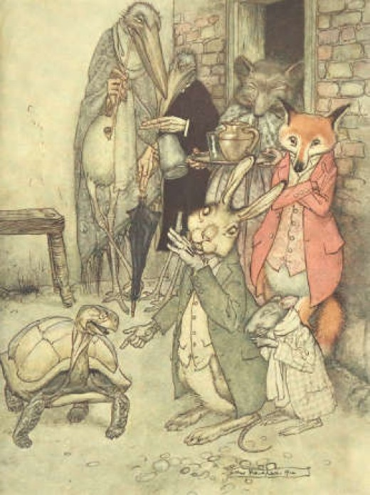 Hare and Tortoise by Arthur Rackham