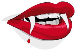 Vampire lips photo courtesy of www.wpclipart.com