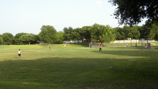 Multi- Use soccer and baseball field for Katherine Fleischer Park Wells Branch Austin Texas