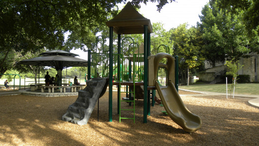 Playscapes at the playground for Katherine Fleischer Park Wells Branch Austin Texas