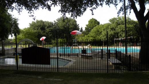 Willow Bend Swimming Pool at Katherine Fleischer Park Wells Branch Austin Texas
